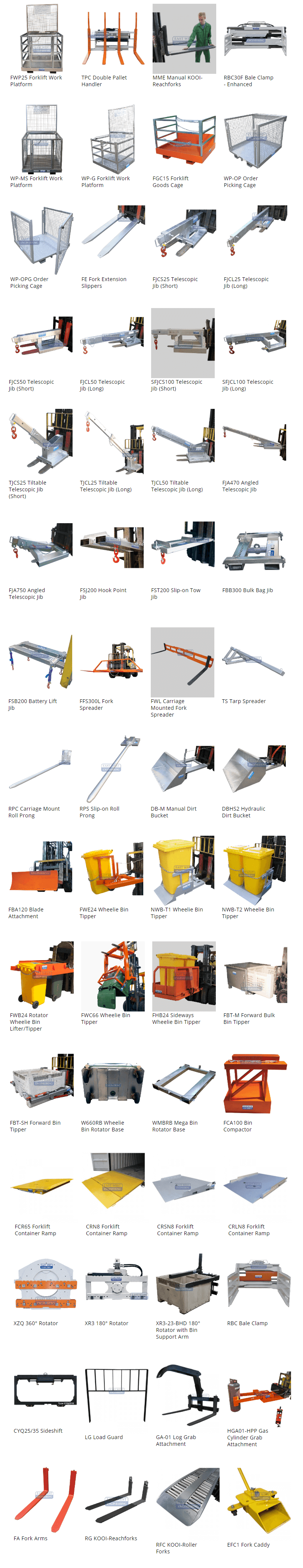 forklift attachments darwin